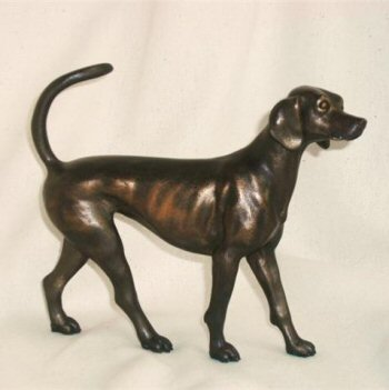 Trailhound Figurine bronze effect